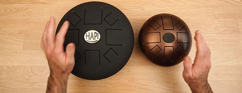 Hapi Slim Drum und Hapi Mini Drum